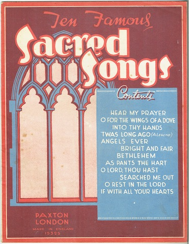 Image for Ten Famous Sacred Songs