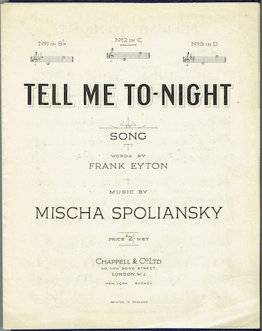 Image for Tell Me To-Night: Song No. 2 In C
