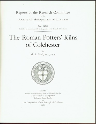 Image for The Roman Potters' Kilns Of Colchester
