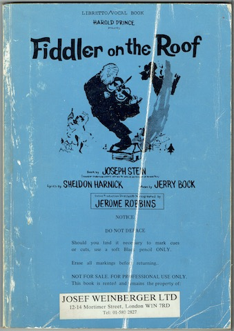 Image for Fiddler On The Roof: Libretto/Vocal Book