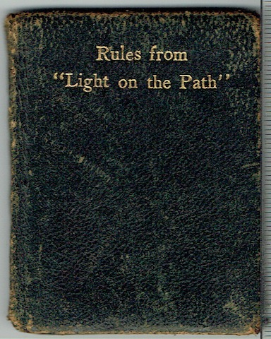 "Image for Rules From ""Light On The Path"""