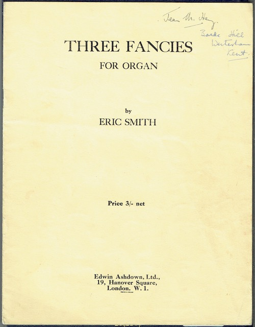 Image for Three Fancies For Organ