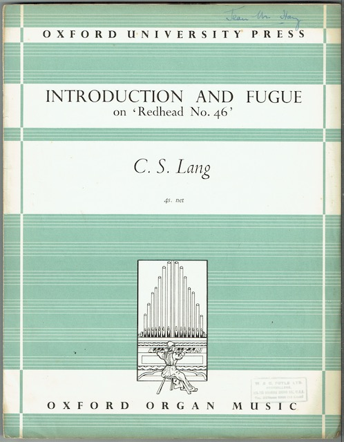 Image for Introduction And Fugue On 'Rehead No. 46'. Op. 83