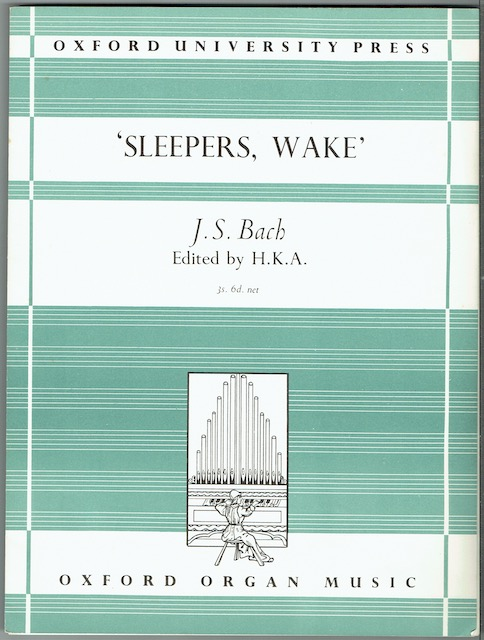 Image for Sleepers, Wake'. Choral Prelude For Organ