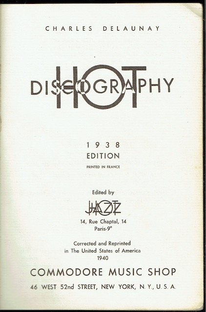 Image for Hot Discography: 1938 Edition