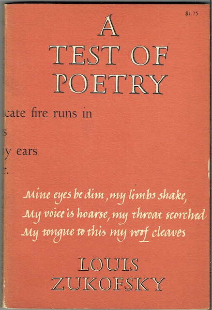 Image for A Test Of Poetry