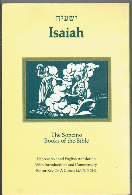 Image for Isaiah (The Soncino Books Of The Bible)