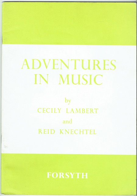 Image for Adventures In Music Book One