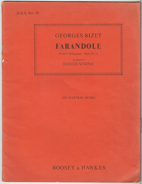 Image for Farandole From L'Arlesienne Suite No. 2: Orchestral Score