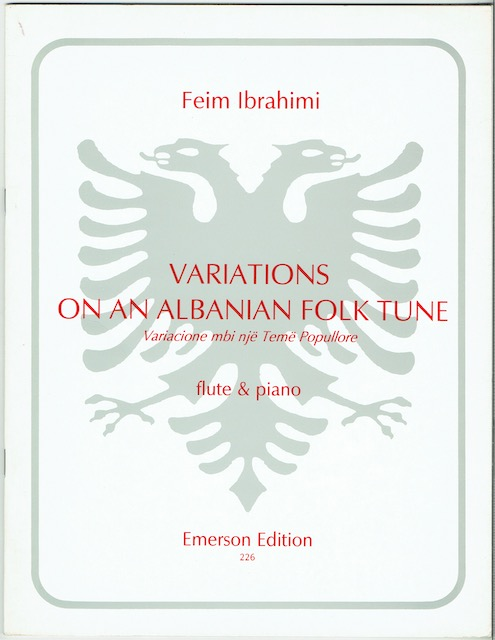 Image for Variations On An Albanian Folk Tune: Flute & Piano