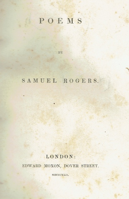Image for Poems By Samuel Rogers
