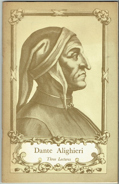 Image for Dante Alighieri: Three Lectures (Signed)