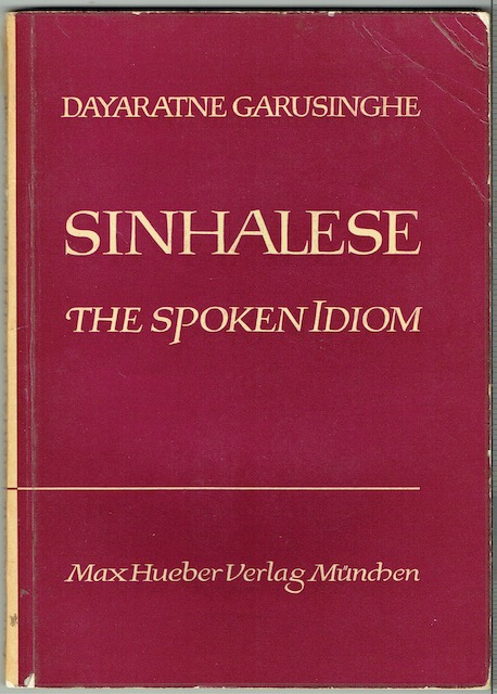 Image for Sinhalese: The Spoken Idiom