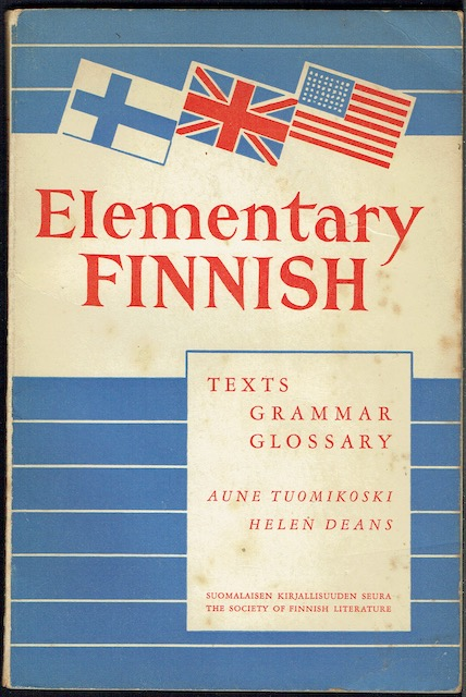 Image for Elementary Finnish: Texts, Grammar, Glossary