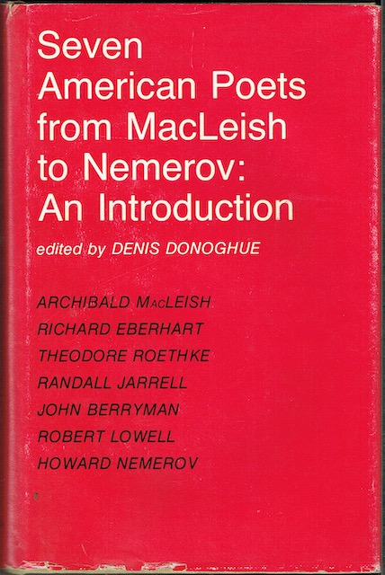 Image for Seven American Poets From MacLeish To Nemerov (Signed by Richard Eberhart)