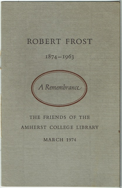 Image for Robert Frost 1874-1963: A Remembrance