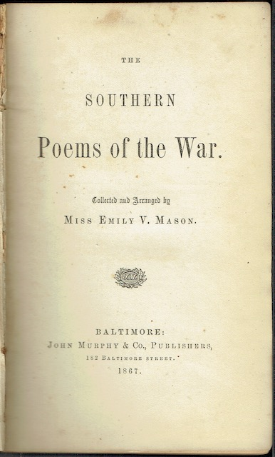 Image for The Southern Poems Of The War