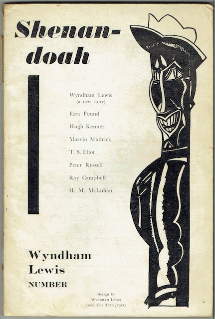Image for Shenandoah: Vol. IV, Summer-Autumn, Nos. 2-3. Wyndham Lewis Number (signed by Donald Davie)