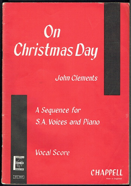 Image for On Christmas Day: A Sequence Of Christmas Carols arranged For S.A Voices And Piano