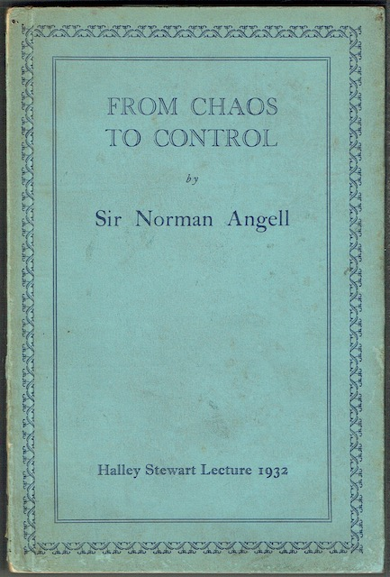 Image for From Chaos To Control: Halley Stewart Lecture 1932