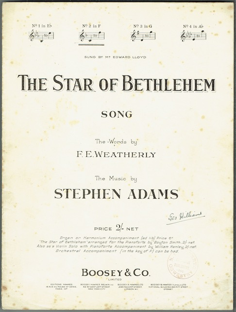 Image for The Star Of Bethlehem: Song, No. 2 in F