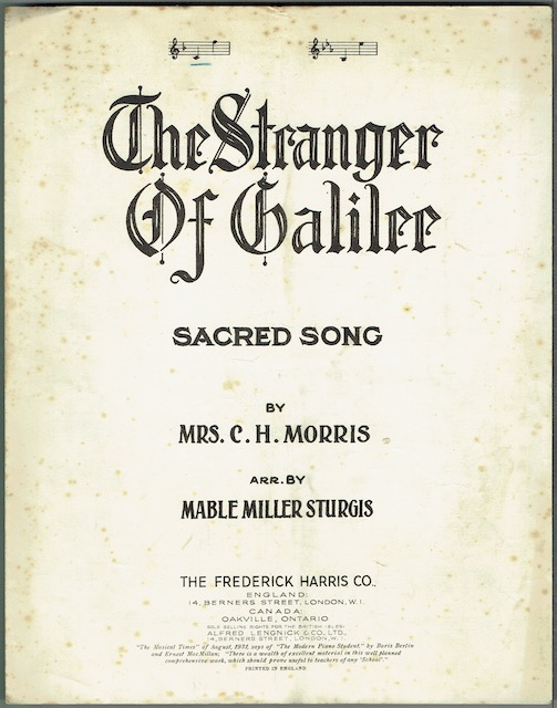 Image for The Stranger Of Galilee: Sacred Song