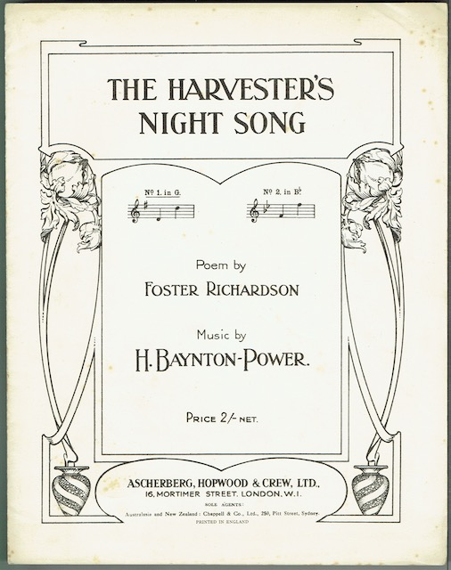 Image for The Harvester's Night Song, No. 1 in G