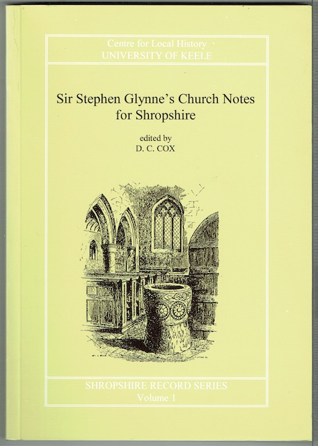 Image for Sir Stephen Glynne's Church Notes For Shropshire