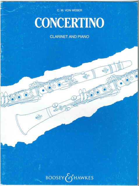 Image for Concertino For Clarinet And Orchestra: Reduction For Clarinet In B Flat And Piano