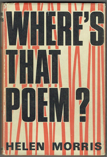 Image for Where's That Poem? An Index Of Poems For Children Arranged By Subject, With A Bibliography Of Books Of Poetry And An Introduction On The Teaching Of Poetry