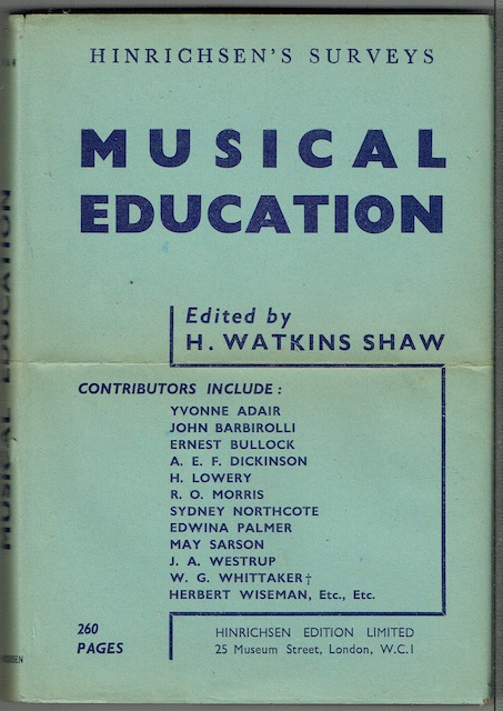 Image for Musical Education: A Symposium by Yvonne Adair et al.