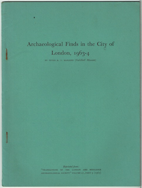 Image for Archaeological Finds In The City Of London, 1963-4