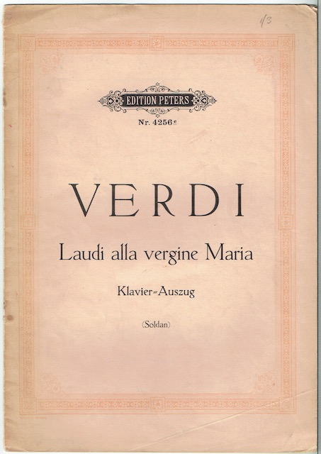Image for Laudi alla vergine Maria: Klavier-Auszug (Edition Peters Nr. 4256c)