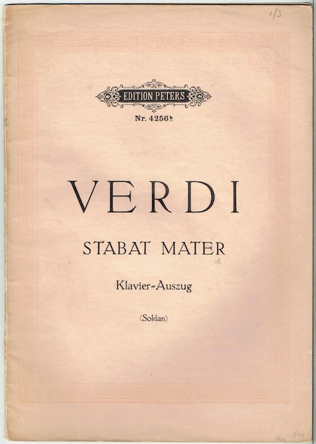 Image for Stabat Mater: Klavier-Auszug (Edition Peters Nr. 4256b)