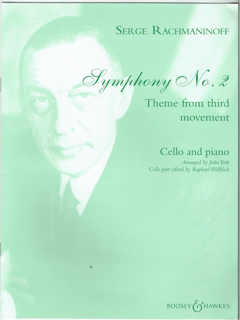 Image for Symphony No. 2: Theme From Third Movement For Cello And Piano