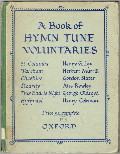 Image for A Book Of Hymn Tune Voluntaries