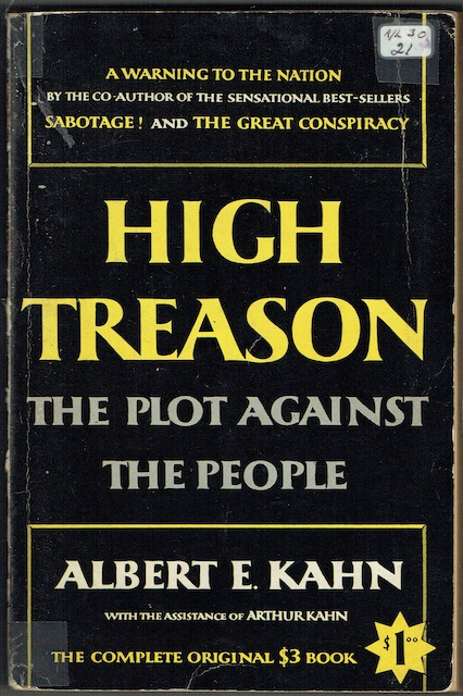 Image for High Treason: The Plot against The People