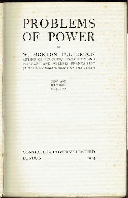 Image for Problems Of Power