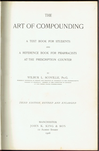 Image for The Art Of Compounding: A Text Book For Students And A Reference Book For Pharmacists At The Prescription Counter