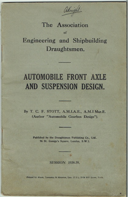 Image for Automobile Front Axle And Suspension Design