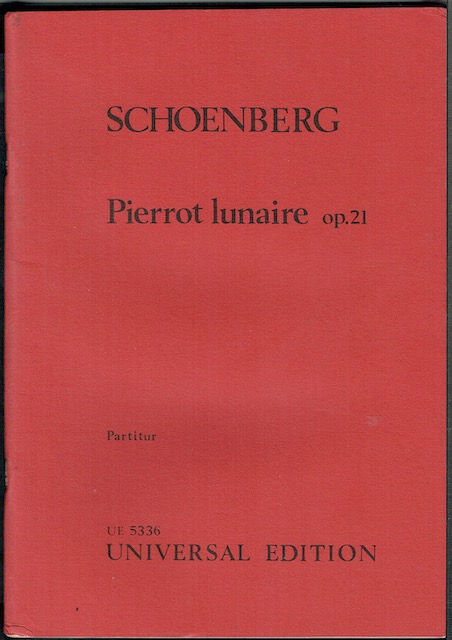 Image for Pierrot lunaire, op.21, Partitur (UE 5336)