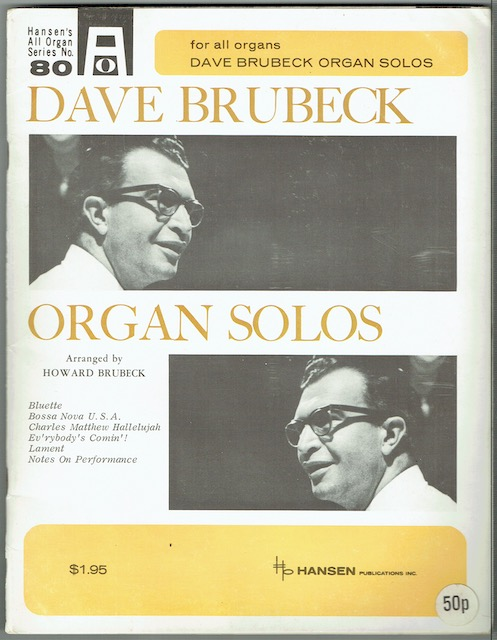 Image for Dave Brubeck Organ Solos (for all organs)