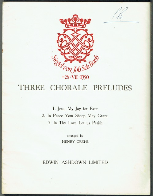 Image for Three Chorale Preludes
