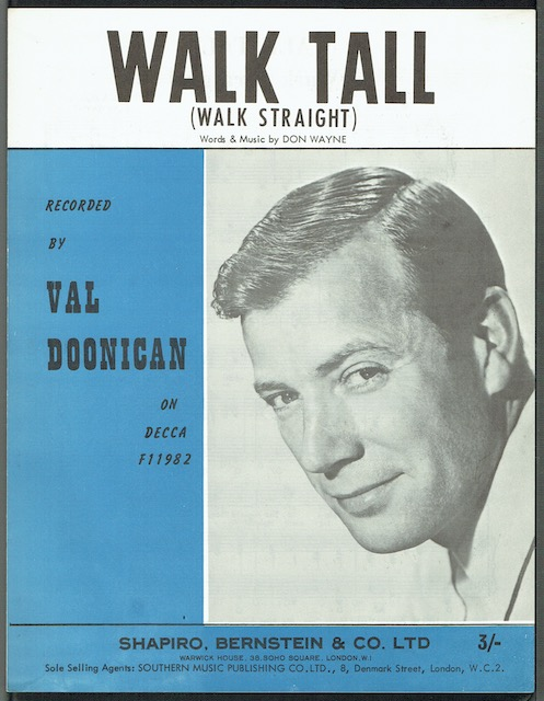 Image for Walk Tall (Walk Straight), recorded by Val Doonican
