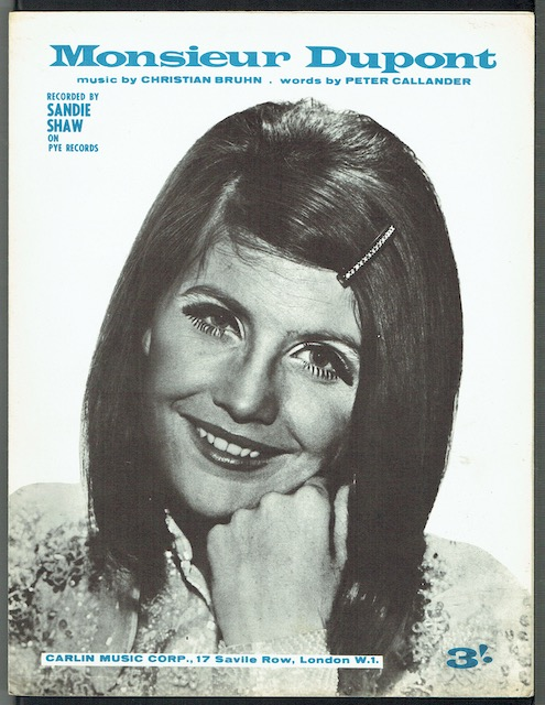 Image for Monsieur Dupont, recorded by Sandie Shaw