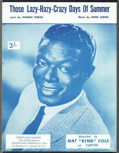 "Image for Those Lazy-Hazy-Crazy Days Of Summer, recorded by Nat ""King"" Cole"