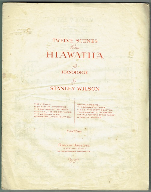 Image for Twelve Scenes From Hiawatha For Pianoforte