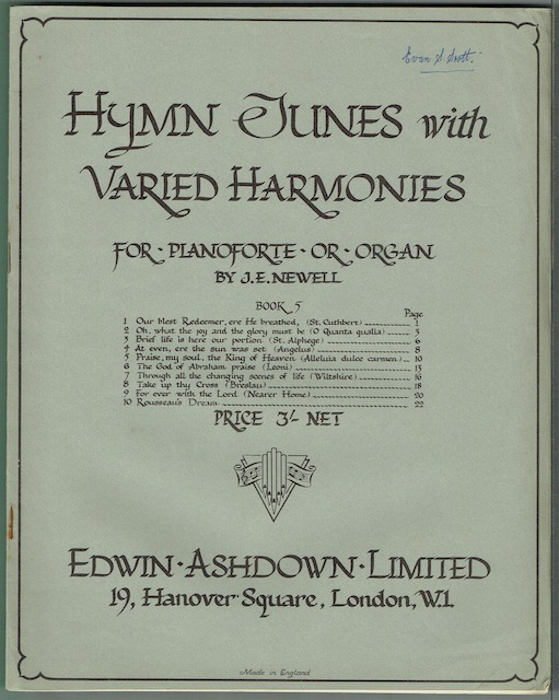 Image for Hymn Tunes With Varied Harmonies For Pianoforte Or Organ, Book 5