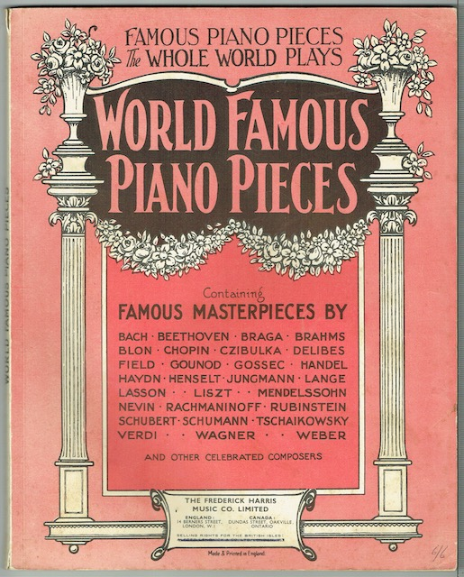 Image for World Famous Piano Pieces