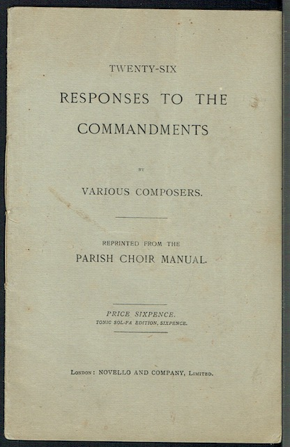 Image for Twenty-Six Responses To The Commandments By Various Composers